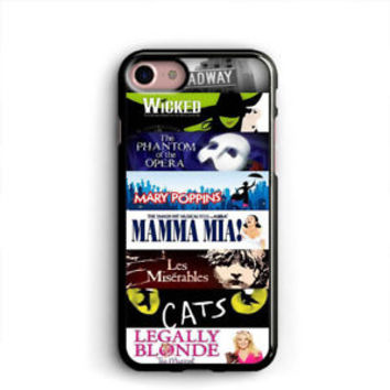 Broadway iPhone X Cases Samsung Case Musical Collage iPhone 8 Plus Cases