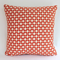 Red Betwixt Schumacher Pillow Cover with Fabric on Both Sides