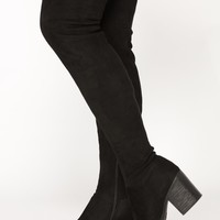Callie Thigh High Boot - Black