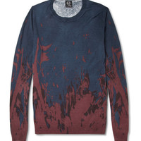 McQ Alexander McQueen Printed Silk and Cotton-Blend Sweater | MR PORTER