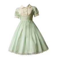 Partiss Women's Light Green Cotton Lolita Dress