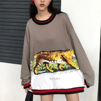 DCCKHI2 Gucci Long Sleeve Hooded Tank Print Tattoo Sweater Tagre-