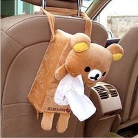 Lolita Lovely Cute Rilakkuma San-X Cute Plush Car Tissue Box Cover w/Strap:Amazon:Home & Kitchen