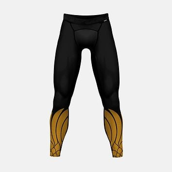 Icarus Black and Gold Tights for men