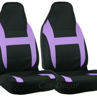 Mesh Purple Black HB Car Seat Cover 2