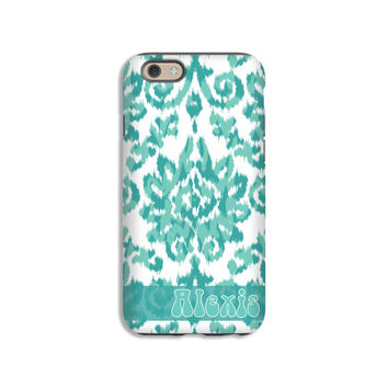 Boho Personalized iPhone 6s case/6s Plus case, iKat damask iPhone 6 plus case, iPhone 6 case, iPhone case for teen, 3D iPhone tough case