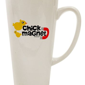 Cute Chick Magnet Design 16 Ounce Conical Latte Coffee Mug by TooLoud