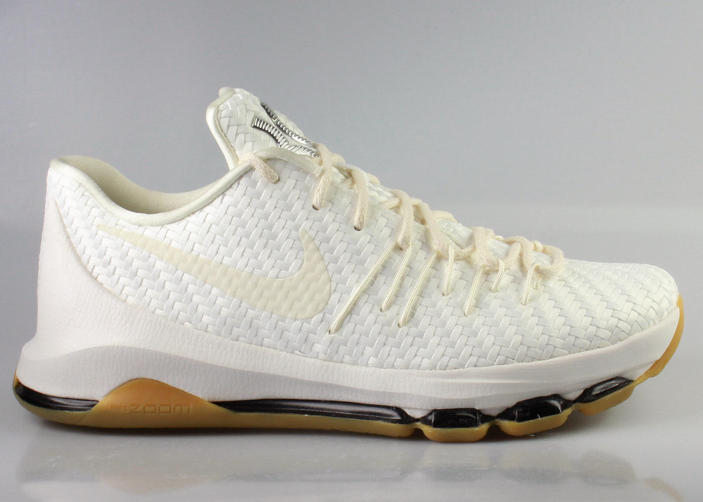 best service 4ace2 56937 Nike Men s KD 8 VIII EXT White Woven Gum from KickzStore
