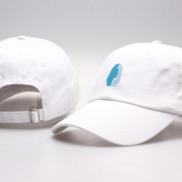 The New Last Kings Visor Unisex Outdoor Couple's Cotton Baseball Cap - White