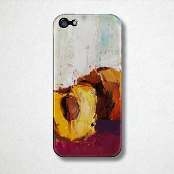 Peach Fruit Phone Case  - iPhone Case - 4S - 5S - Samsung Galaxy - Plastic Hard Case - Oil Painting - Phone Accessories
