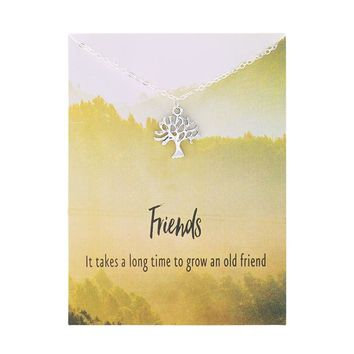 New Arrival Friendship Friends Tree Life Necklace
