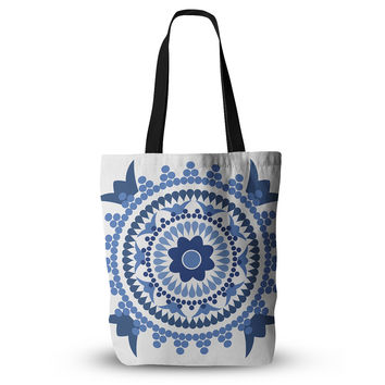 "Carolyn Greifeld ""Bohemian Blues"" Blue White Everything Tote Bag"