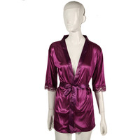 Women Satin Lace Silk Soft Underwear Lingerie Nightdress Sleepwear Robe Sexy Pajamas Nighty Hot Selling