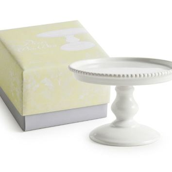 Decor Bon Bon Hue Mini Pedestal Cake Stand White in Gift Box 89170