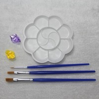 3Pcs Set Fine Hand-painted Hook Line Pen Drawing Pen Art Pen Paint Brush Art Supplies Student Stationery And Paint Palette