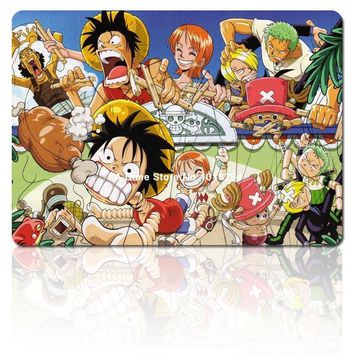 one piece mouse pad Straw hat pirates dinner mousepad laptop anime mouse pad gear notbook computer gaming mouse pad gamer
