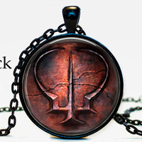 Brotherhood of Blood Dark Souls II Pendant Necklace Geekery video game pc game pendant gift for him for her for men