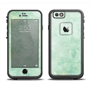 The Vintage Grungy Green Surface Apple iPhone 6 LifeProof Fre Case Skin Set