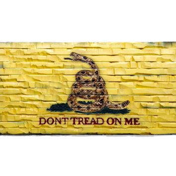 "Gadsden ""Dont Tread On Me"" hand carved banner"
