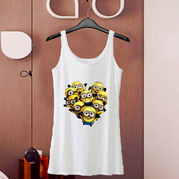 Misstop Men / Women Black Tank Top Tanktop Tshirt T Shirt, bastille minion Funny 2
