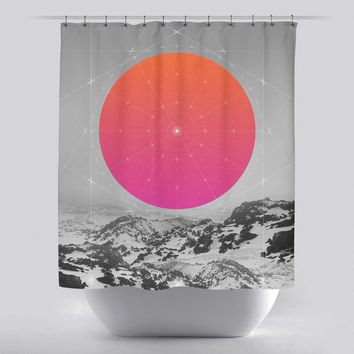 Unique Shower Curtain - Middle of Nowhere Landscape 2 by Soaring Anchor Designs