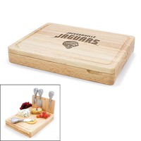 Picnic Time Jacksonville Jaguars Asiago 5-pc. Cheese Board Set (Brown)