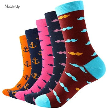 MUSTACHE ANCHOR Man Combed Cotton Socks