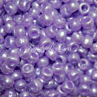 100 Light Purple Lilac Pearl colored pony beads for kandi raver crafts beading lacing kandy rave jewelry and cuffs hair kawaii girly