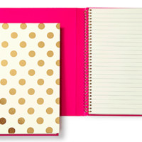 Kate Spade Spiral Notebook- Gold Polka Dots