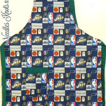 Utah Jazz Apron, Mens, Womens Aprons, Basketball Team Apron, Aprons