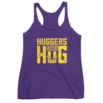 "Bayley ""Huggers Gonna Hug"" Women's Racerback Tank"