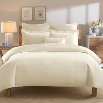 Real Simple® Linear Duvet Cover in Ivory
