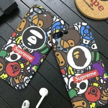 Supreme print phone shell phone case for Iphone 6/6s/6p/7p/7/X