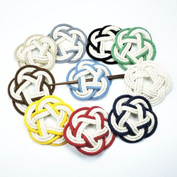 Sailor Knot Hair Stick Barrette, 17 Color Choices