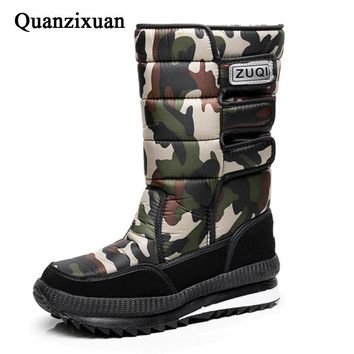 New men snow boots waterproof men's ankle boots Winter outdoor Fur warm Mans Boot fashion work shoes Men Shoes Unisex Size 36-46