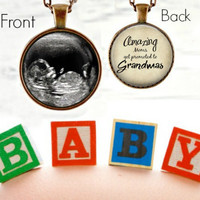Grandma to Be Necklace - Ultrasound Necklace - Pregnancy Announcement