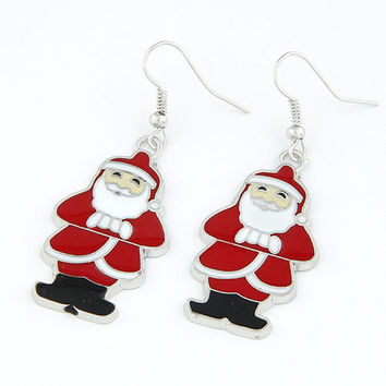 Santa Claus Earrings Drop Dangle Earring, Christmas Present, Gift for Family In Christmas, Party Jewelry, Christmas Earring 13010230