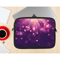 The Dark Purple with Desending Lightdrops Ink-Fuzed NeoPrene MacBook Laptop Sleeve