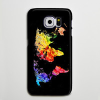 World Map in Colors Galaxy A s6 Edge Plus Case Galaxy s6 s5 Case Samsung Galaxy Note 5 Phone Case s6-184