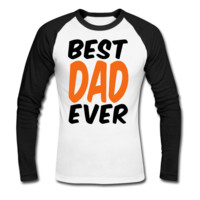 Best Dad Poster  Men's Baseball T-Shirt - Men's Baseball Personalized T Shirts