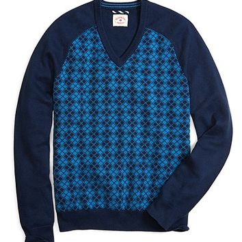 Argyle V-Neck Sweater - Brooks Brothers