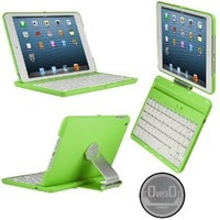 CoverBot iPad Mini 3, iPad Mini Retina Display and iPad Mini Keyboard Case Station APPLE GREEN. Bluetooth Keyboard For 7.9 Inch New Mini iPad with IOS Commands. Folio Style Cover with 360 Degree Rotating Viewing Stand Feature
