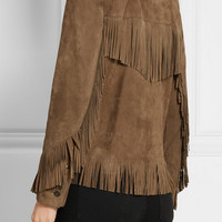 Saint Laurent - Curtis fringed suede jacket