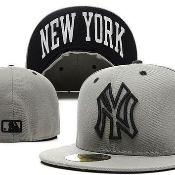 Ny New York Yankees New Era Mlb Authentic Collection 59fifty Cap Grey