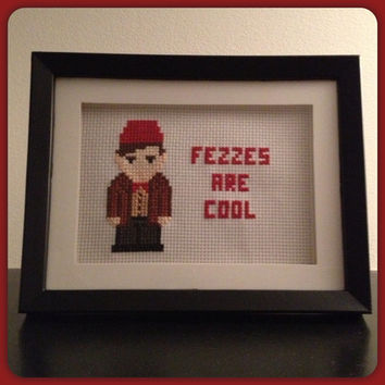 Doctor Who - 11th Doctor Cross Stitch Picture Framed