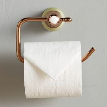 Greengloss Toilet Paper Holder by Anthropologie in Jade Size: Toilet Paper Holder Bath