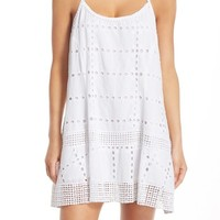 Vitamin A® Eyelet Cotton Cover-Up Dress | Nordstrom