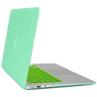 Gearonic Rubberized PC Hard Case with Keyboard Cover and Screen Protector for 11-Inch MacBook Air, Green (5081EPUIB)