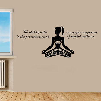 Wall Decal Vinyl Sticker Decals Art Home Decor Design Murals Sport Decals Yoga Decal  Yoga Studio Decals Wellness Center Decals OP48