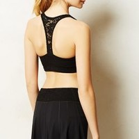 Pure + Good Lattice Racerback Bra Black